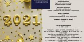 Plats du jour du 28 Décembre au 2 Janvier 2021